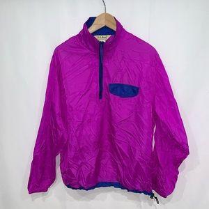 LL Bean vintage 90s windbreaker popover jacket